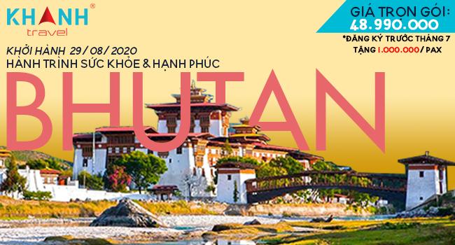 Bhutan - Hành trình sức khỏe và hạnh phúc