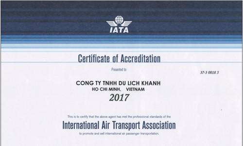 Khanhtravel là thành viên chính thức của HHVT Hàng Không Quốc tế (IATA)